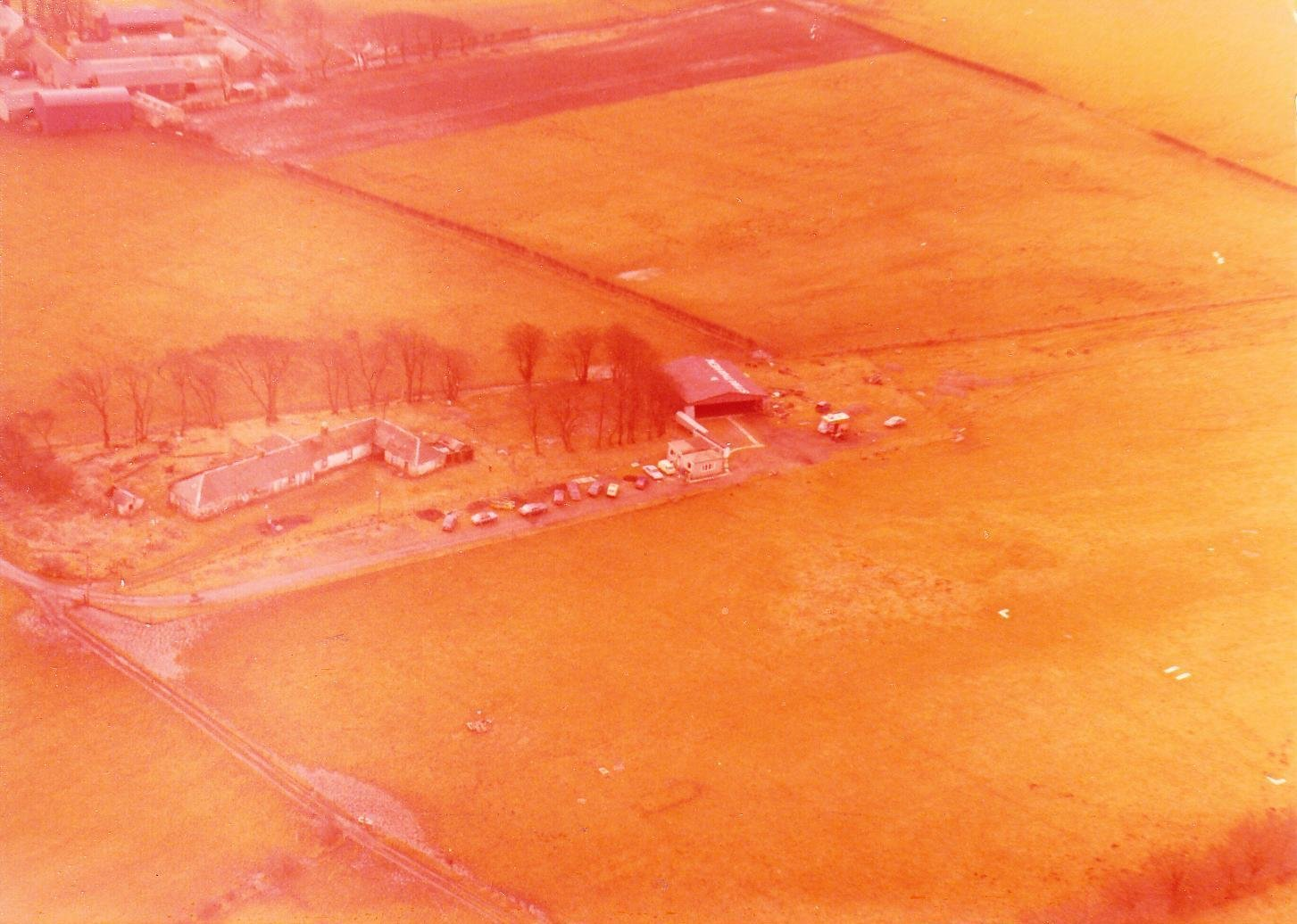 Aerial view, taken from the north east, of Strathaven Airfield in 1979