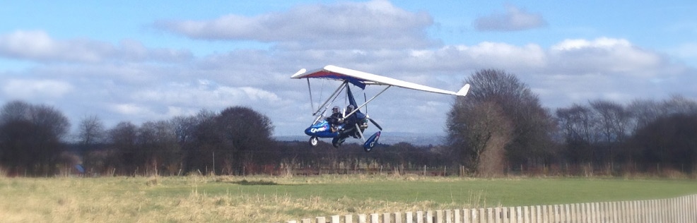 Microlight landing at Strathaven Airfield